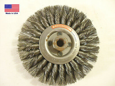 $ CDN24.37 • Buy Anderson 6  Knotted Wire Wheel, 5/8-11 Arbor, .0118 Wire, Max RPM 9,000, NEW.