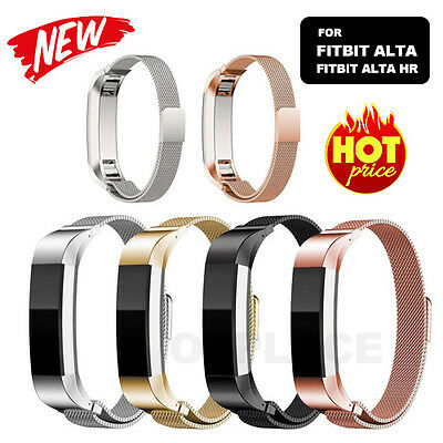 AU11.85 • Buy Stainless Steel Replacement Magnetic Spare Band Strap For Fitbit Alta / Alta HR