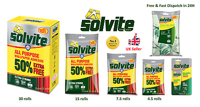 Solvite All Purpose Extra Strong Wallpaper Adhesive Quick Easy Mixing Glue Paste • 3.88£