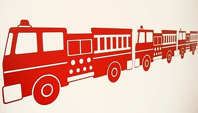 £4.50 • Buy Fire Engine Wall Art Decals/Stickers - Various Colours