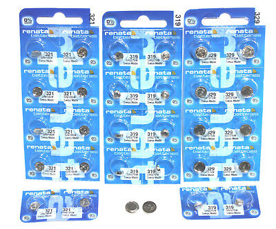 £4.45 • Buy Renata Silver Oxide Watch Battery / Button Cell. MANY SIZES ( Mercury Free )