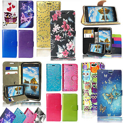 For HUAWEI P8 Lite Magnetic Leather Flip Wallet Case Cover+ Screen Protector • 2.89£
