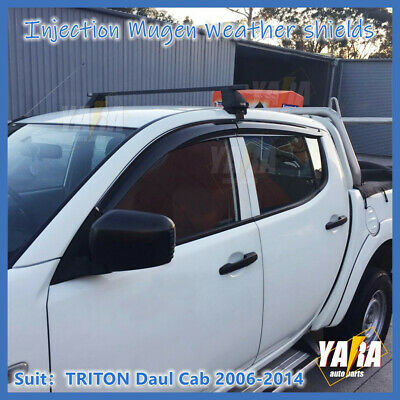 AU48 • Buy Mugen Style Weather Shields Window Visors For Mitsubishi Triton ML MN 2006-2015