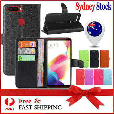 AU6.89 • Buy Wallet Leather Card Pocket Flip PU Case Cover For Oppo R11S / Oppo R11S Plus