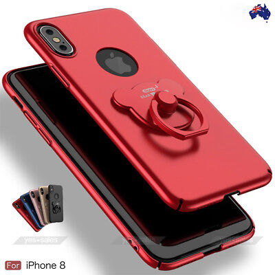 AU8.99 • Buy IPhone X Case, AIQAA Ring Bracket Frosted Hard PC Case Cover IPhone 10 8 Plus