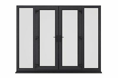 New Anthracite (ral 7016) Grey/white Upvc French Patio Doors - Made In Uk!! • 625£