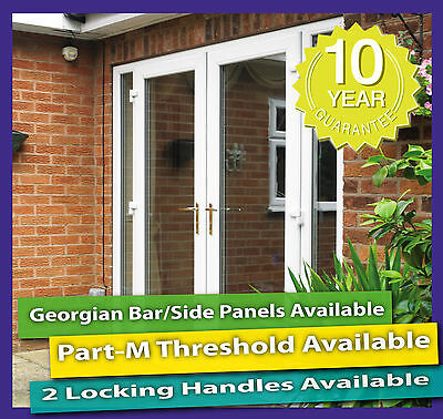 White Upvc French Patio Doors - New Made To Measure Sizes • 490£