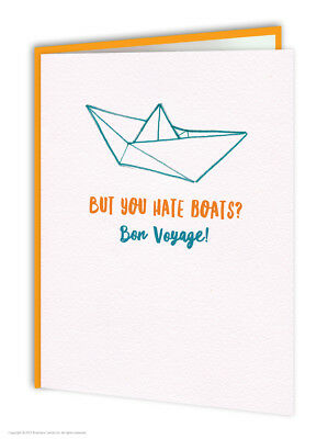 Leaving Bon Voyage Travel Goodbye Good Luck Greetings Card Funny Comedy Humour  • 3.50£