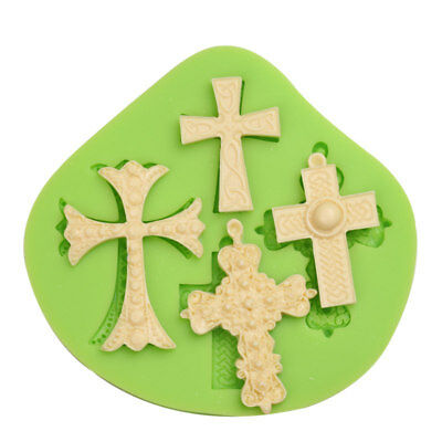 Silicone 4 Crucifix Celtic Cross Mould Xmas Jewellery Resin Cake Decor Icing • 4.99£