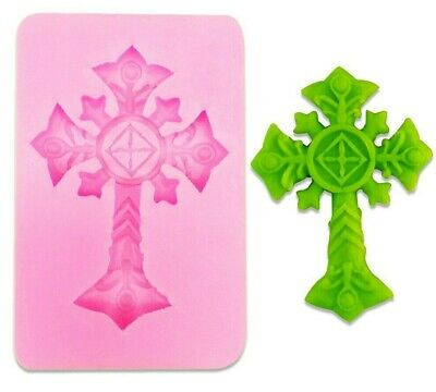 Silicone Christening Confirmation Crucifix Cross Mould Cake Decor Icing 1 • 4.99£