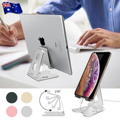 AU12.95 • Buy New Universal Folding Aluminum Tablet Mount Holder Stand For IPad IPhone Samsung