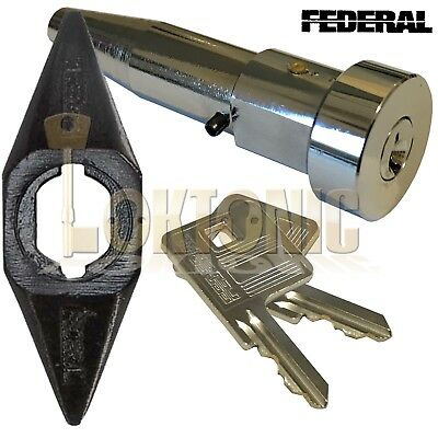 Federal High Security Quality Round Roller Shutter Bullet Lock With Housing • 21.95£