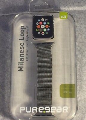 AU33.39 • Buy PureGear 38mm Stainless Steel Milanese Loop Watch Band For Apple Watch - Silver