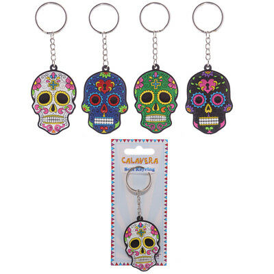 £3.94 • Buy Day Of The Dead Mexican Sugar Candy Skull Keyring - FUNKY EVIL ZOMBIE GOTHIC EMO