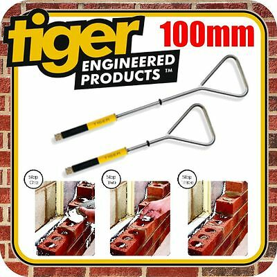 100mm Tiger Wall Ties Fixings Cavity Starter Ties Pack Of 10 Wire Wall Brick • 23£