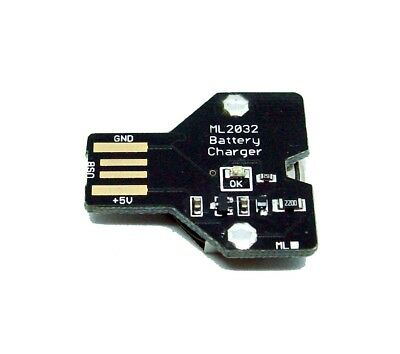 AU25.84 • Buy USB Coin Cell Charger For Li-Al Maxell RENATA ML2032 ML2016 LMR2016 Battery
