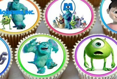 24 X Cute Monsters Inc Cake Cupcake Toppers Printed On Edible Icing Sheet 3501 • 4.59£