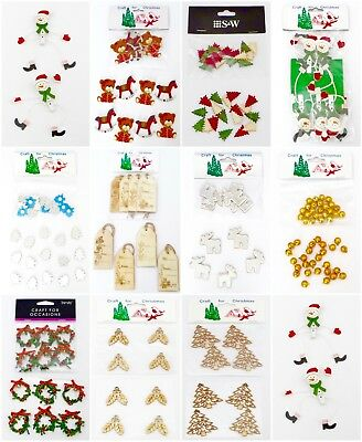 Craft For Christmas Embellishments For Decorations, Cards And Scrapbooking • 1.99£