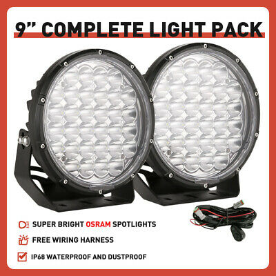 AU108.99 • Buy OSRAM NEW 9inch Spot Led Driving Work Lights Round Black OffRoad 4x4 ATV UTE SUV
