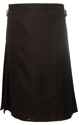 £54.99 • Buy Gents Lightweight Casual Party Kilt Black Size 34 36
