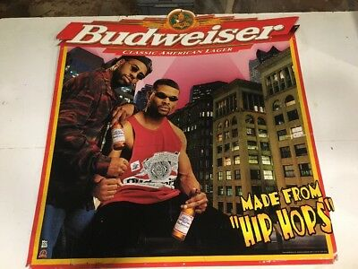$ CDN215.22 • Buy Rare Vintage Budweiser Hip Hops 1998 Metal Sign