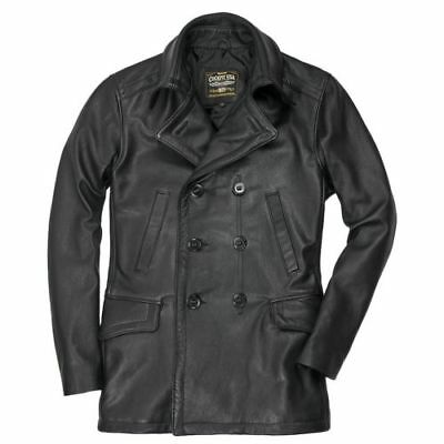 $765 • Buy Cockpit USA Vintage Leather Naval Officers Peacoat USA MADE  Z21P019