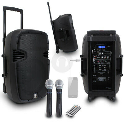 Skytec 12  Mobile PA Speaker System + Mobile Phone Cable 500W UK Stock • 185£