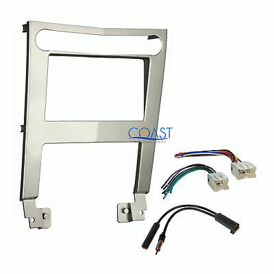 $28.95 • Buy Car Radio Stereo Silver 2 Din Dash Kit Wire Harness For 2004-2006 Nissan Maxima