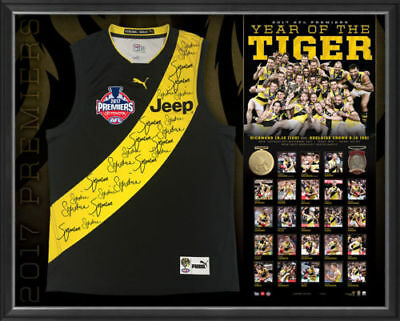 AU1995 • Buy Richmond 2017 Afl Premiers Team Signed Guernsey Jumper Jersey Dusty Cotchin