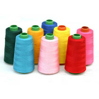 4 X 5000 Yards QUALITY SEWING THREAD 120s SPUN POLYESTER, OVERLOCKING  • 8.99£