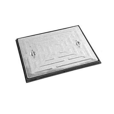 Manhole Cover & Frame 600x450 2.5Tonne Galvanised Steel PC6AG Access Inspection • 17.40£