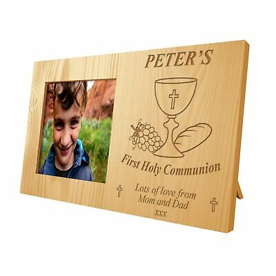 Personalised Girls And Boys First Holy Communion Memento Wooden Photo Frame Gift • 17.99£