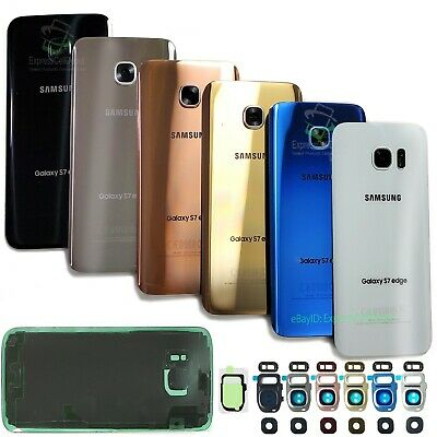 $ CDN12.72 • Buy For Samsung Galaxy S7/S7 Edge Replacement Back Glass+Camera Lens Cover+IP68 Tape