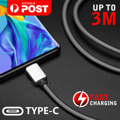 AU6.95 • Buy Fast Charger 3A Braided Type-C USB-C Cable For Samsung S10 S9 Note 10 Huawei P30