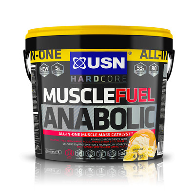 £59.99 • Buy USN Muscle Fuel Anabolic All-In-One Mass Gainer Protein Powder Mass Gainer - 4kg