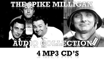 THE SPIKE MILLIGAN AUDIO COLLECTION 🤣 4 MP3 CD's THE GOON SHOW & WAR MEMOIRS  • 6.99£