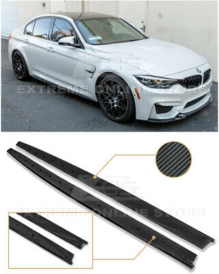 $289.99 • Buy For 14-18 BMW F80 M3 Performance Style CARBON FIBER Side Skirts Panel Extension
