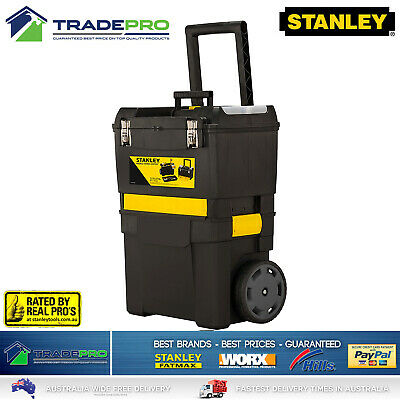 AU119 • Buy Stanley® Tool Chest Box 3in1 Mobile With Wheels Large Lockable Roller Storage