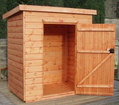 Pinelap 4x3 Wooden Tool Shed Fully T&G Garden Store 4FT X 3FT Outdoor Hut • 330.40£