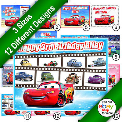 Cars Lightning McQueen Cake Topper Rectangle Personalised Icing Print • 5.99£