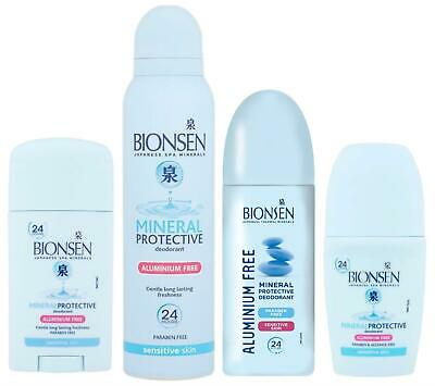 Bionsen | Aerosol Deodorant Mineral Spray Roll On | Full Range • 6.40£