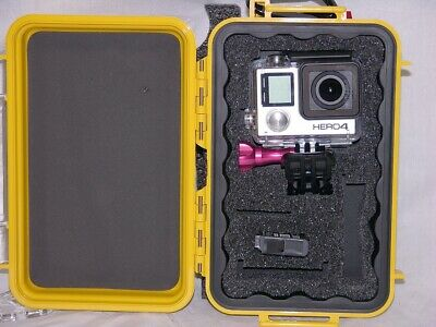 $ CDN50.66 • Buy Pelican ™ 1040 Yellow Case Fits GoPro Hero7 6 5 4 3+ Black Edition + Nameplate