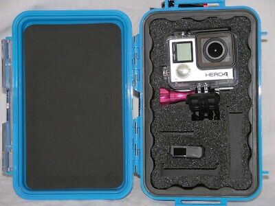 $ CDN51.93 • Buy Pelican ™ 1040 Blue Case Fits GoPro Hero7 6 5 4 3+ Black Edition + Nameplate