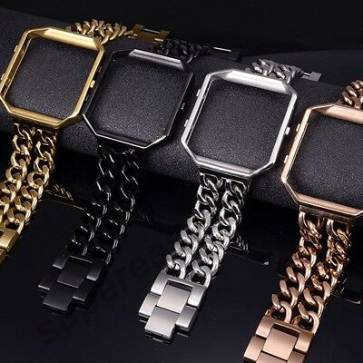AU22.97 • Buy Replacement Stainless Steel Watch Bands+Metal Frame For Fitbit Blaze Smart Watch