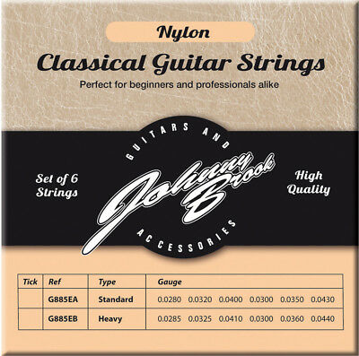 $ CDN6.90 • Buy Johnny Brook High Quality Nylon Classic Classical Guitar Strings String 6 Pack