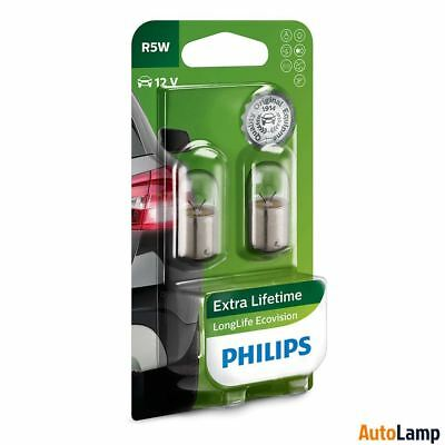 AU15.88 • Buy PHILIPS R5W LongLife EcoVision Halogen Bulb 507 12V 5W BA15s 12821LLECOB2 Twin