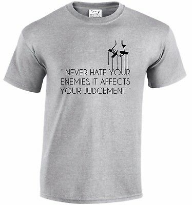 £4.99 • Buy Never Hate Your Enemies GodFather Inspired T-Shirt