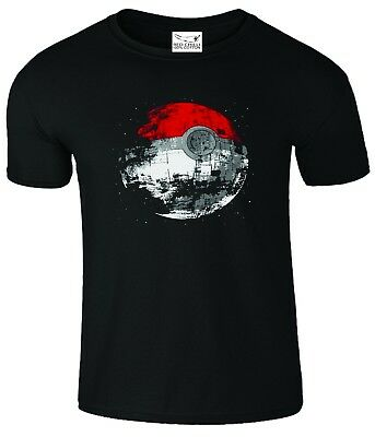 Death Star Pokeball Star Wars Pokemon Inspired T-Shirt • 5.45£