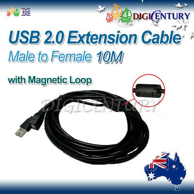 AU17.99 • Buy Black High Quality USB 2.0 A Female To A Male Extension Cable Cord 10M For TV