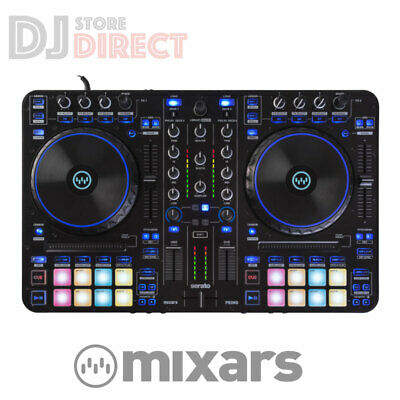 £439 • Buy MIXAR PRIMO 2 Channel 4 Deck DJ Controller Serato USB With Standalone Mixer RGB